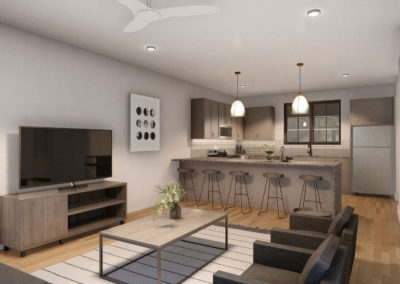 T2 UC Kitchen and Living (1)